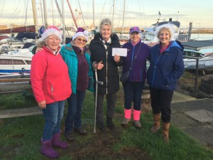 Sea Change Cheque Presentation for £365